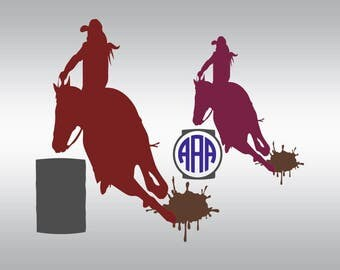 Barrel Racing svg, Rodeo svg, Cowgirl svg, Barrel racer svg, Western svg, Horse svg, Cricut, Cameo, Cut file, Clipart, Svg, DXF, Png, Eps