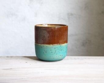 Espresso cup, coffee lovers gift, Modern Espresso Cups, Unique pottery cup, Espresso tumbler