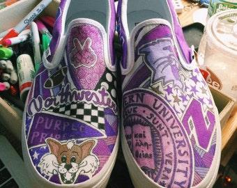 Northwestern University Custom Sneakers