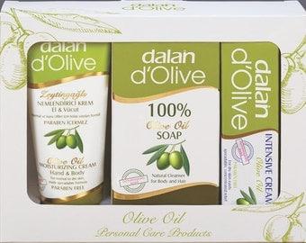 MINI GIFT SET - Olive Oil Cream, soap and Intensive repairing cream