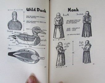 Woodcarving Book Vintage Handbook of Woodcarving and Whittling Elsie Hanauer