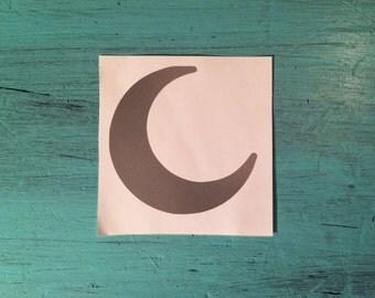 Crescent Moon Vinyl Decal - Car Vinyl Decal - Laptop Vinyl Decal