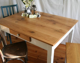 "rustic kitchen table ""Rose Chafer"" wild oak"