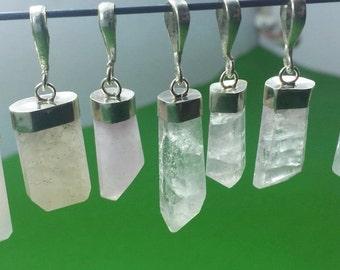 Morganite Pendants With Pure Silver 10 Pieces