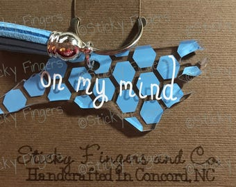 NC On My Mind Keychain