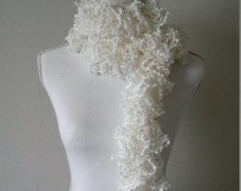 Scarf fancy knitted woman hand - knitted scarf hand neck - scarf, neck warmer with fancy wool