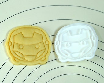 Iron Man Cookie Cutter and Stamp