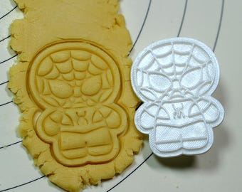 Cute Spiderman Cookie Cutter and Stamp