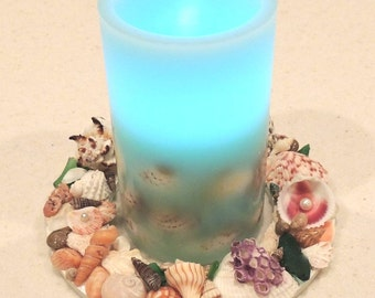 Seashell Candle Ring and Candle