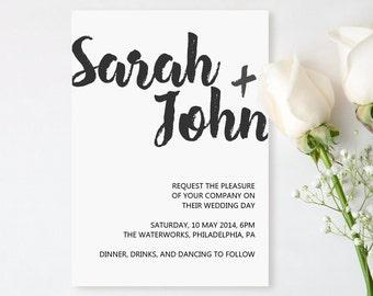 Modern Wedding Invitation - Printable Template