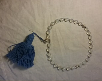 Medieval Style Opalite Paternoster Prayer Beads Rosary (Circular)
