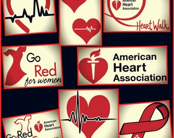 American Heart Association SVG - Heart Svg - Heart Beat svg png jpeg dxf - Designs for Cricut and Silhouette