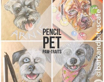 Custom Puppy Pencil Portraits - Original, One of a Kind, Personalised, Illustration, Artworks, Dog, Puppy, Family Portraits, Cute