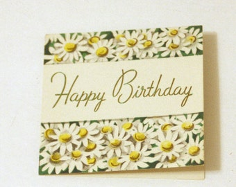 Vintage HAPPY BIRTHDAY card, Retro Birthday Card, Unused Birthday Card, Daisy Birthday Card, Vintage Birthday Card, Birthday