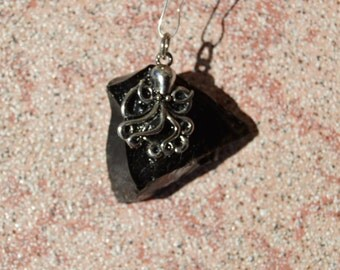 Black Obsidian with Octopus pendant