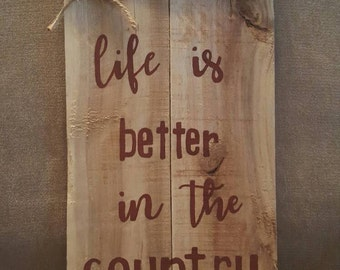Country pallet sign