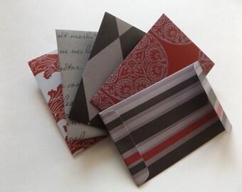 Set of 5 Gift Card Holders Gift Card Envelopes Mini Envelopes  Envelopes Gift Envelopes Tiny Envelopes (#17)
