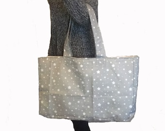 Beach gray waterproof fabric bag