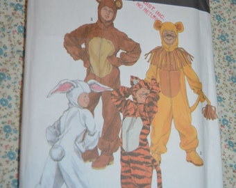 Simplicity 9808 Boys and Girls Animal Costumes Sewing Pattern - UNCUT  - Size 2 - 4 , 6 - 8 , 10 -12