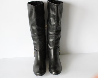 Womens boots/ Zip/Leather boots/NOS/Black Boots/Size USA-9/EU-41/uk-7/Low price/Great deal/Save money.