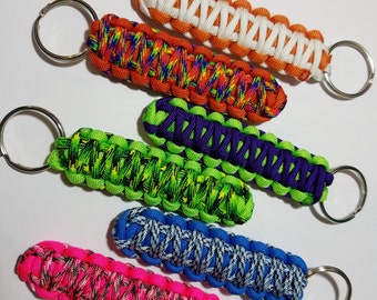 Paracord King Cobra Keychain, paracord key fob, car accessories, gift for him, gift for her, easter basket stuffer, paracord accessories