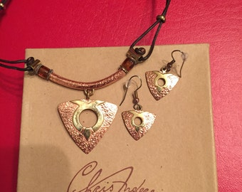 Signed Chris Anderson Necklace & Earring Set
