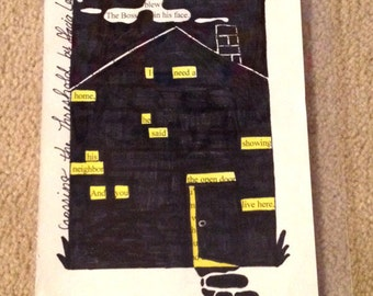 Blackout Poetry - Crossing the Threshold (Dealing with Blue) - Art and a Donation to AHA