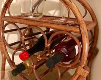 Bamboo wine rack/holder  * price reduced