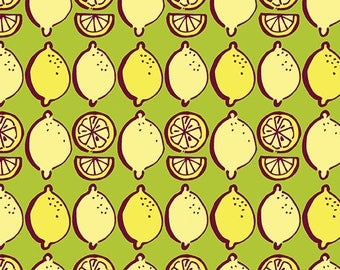 Lemon Squeezy - 1483-40 Little Lemons Lime - by Holly Helgeson from Contempo for Benartex