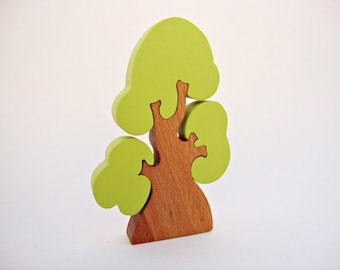 Learning Toys Wooden Toy Puzzle Tree Spring Waldorf Tree Toy Handmade Birthday Gift Eco Friendly Toys