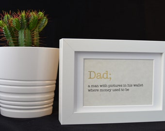 Urban Dictionary Wall Art / Dad Definition / Dictionary Art / Funny Definition / Word Art