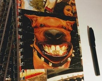 Ludacris Smiling Pitbull Journal, Notebook, Cool Journal, Small Journal, Small Blank book, Blank book, drawing notebook, fan art