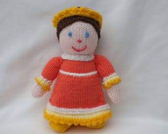 Hand Knitted Princess Doll