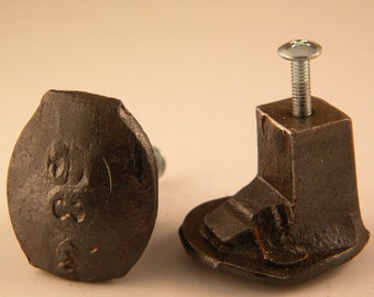 Railroad Spike Knobs