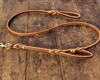Leather Dog  Leash / Traffic Leash / Dog Leash / Braided Leather / Training Leash