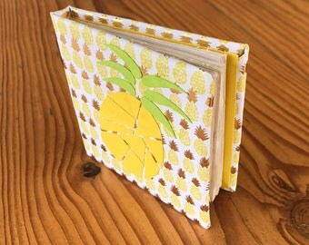 Handmade Mini Journal/ Notebook (Pineapple Cover)