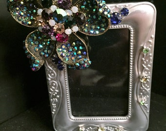 Jeweled Mini Photo Book and Frame/Adorned Picture Book Frame