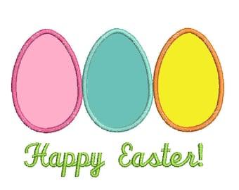 3Easter Eggs Applique Pattern