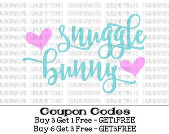Snuggle Bunny Svg Easter Svg Easter Bunny svg PNG Cut files for Silhouette Cameo svg files for cricut svg files for girls Vector Rabbit svg
