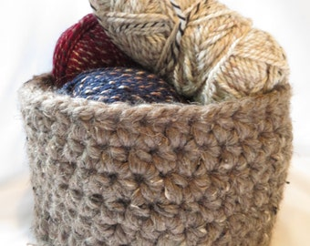 Barley*Super Bulky*Crocheted*Basket