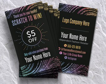 Scratch Off Card, Scratch to Win, Home Office Approved (Fonts & Colors), Personalized, Digital card for lularoe retailer, Scratch Off Card 1