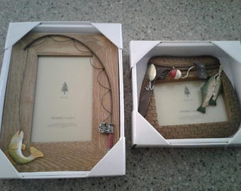 Two Home Studio Picture Frames - fishing