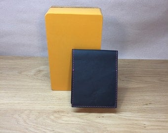 Mini notebook leather Navy