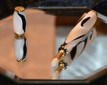 Handcrafted Acrylic Perfume Applicator Pen with Gold Plated Hardware