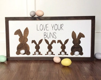 Spring bunny butts wood sign Easter decor spring decor