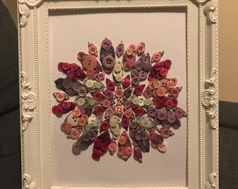 Flower Button Frame