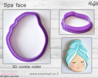 Spa face- 3D cookie cutter