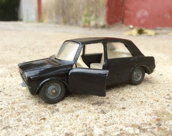 Vintage model car Black opening doors scale car scale model 1:43 metal car Retro toy car USSR Miniature vehicle soviet automobile antique