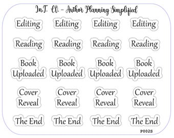 Author Planner Stickers - Word Sheet 2
