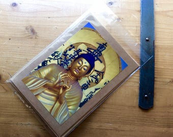 Handmade Card with Golden Bhudda Image